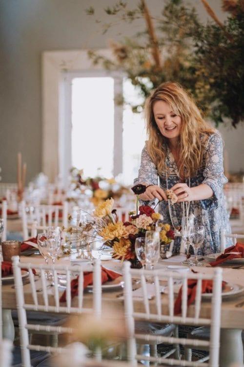 Adore weddings flower setup